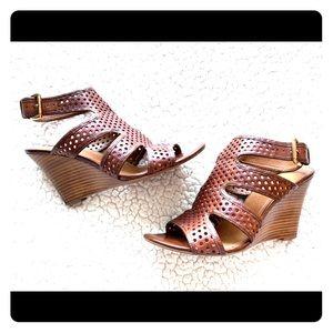 Franco Sarto Leather Wedge Sandals